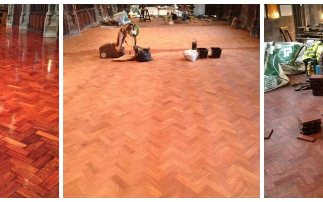 Parquet Flooring Restoration, Sanding and Sealing Cheshire
