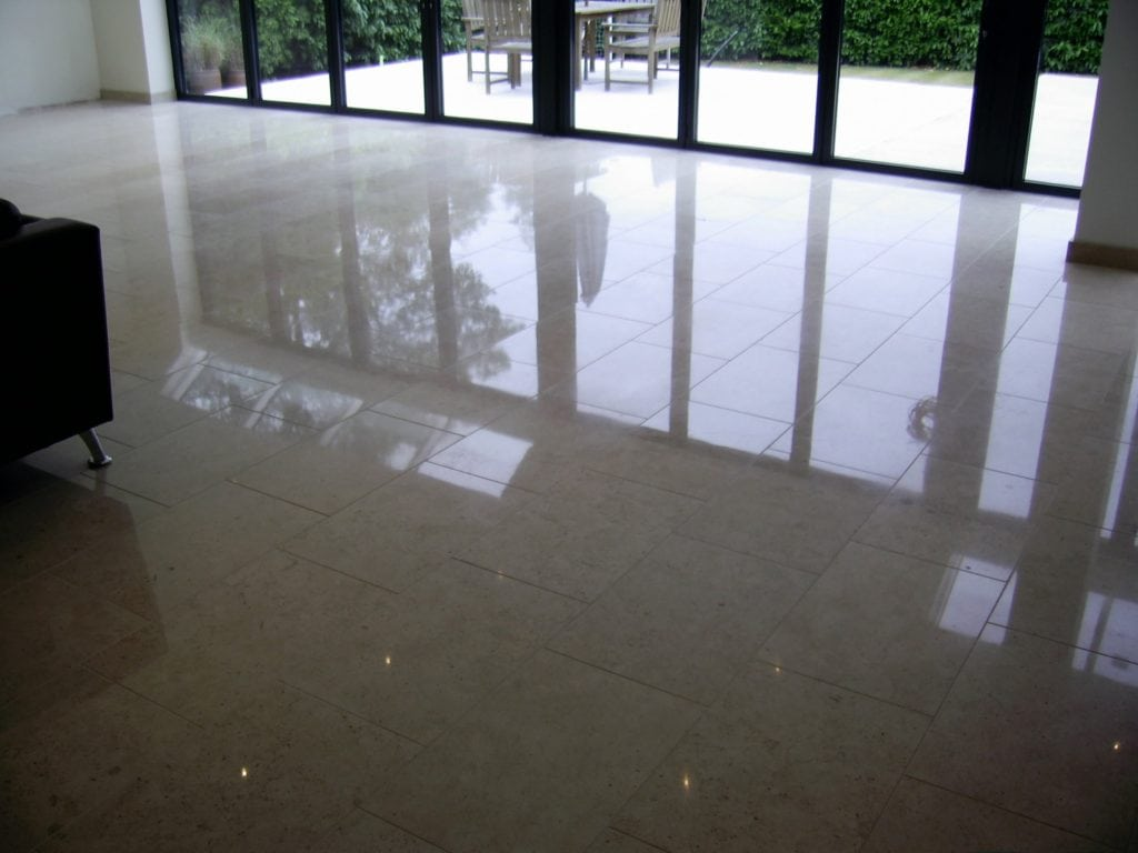 Limestone Floor Cleaning Finished
