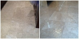 Travertine Floor Cleaning, Restoration, Polishing and Sealing Services
