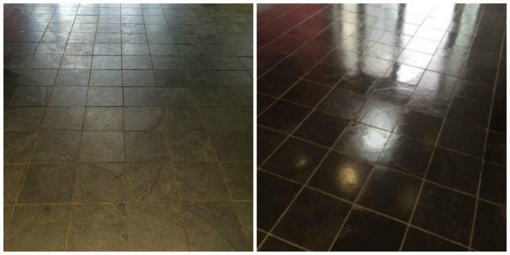 Slate Floor Cleaning & Sealling