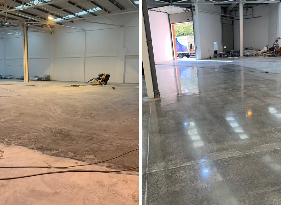 polished concrete floors manchester cheshire stockport